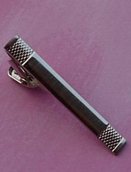 4 centímetros do vintage dos homens Clipes laço (prata) (1pc)