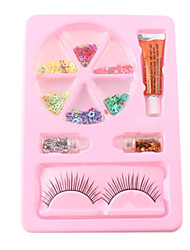Fashion Trends Security Nail Art Decoration Kit(Multicolor Nail Art Decoration & Nail Glue & False Eyelash)