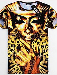 Men's Round Neck Fashion Print T-Shirt