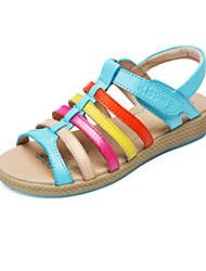 Talon plat en cuir filles spartiates chaussures (plus de couleurs)
