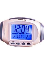 Timess™ Olive Shape LED Digital Calendar Talking Thermometer Alarm Clock