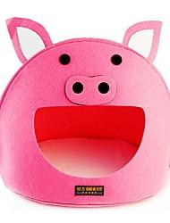 Lefdy Розовый поросенок-образный Тканые Питомник дом любимчика с матрицей