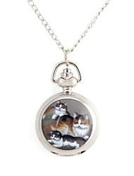 Woman's Whole Cat Family Pattern Metallic Necklace Watch (1pc) Cool Watches Unique Watches