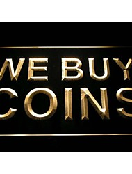 i1012 We Buy Coins Display Shop Neon Light Sign