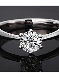 Sillove Women's Fashion Classic 6 Ungual Swiss Rhinestone Ring