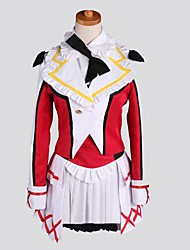 Inspired by Love Live Nozomi Tōjō Anime Cosplay Costumes Cosplay Suits Patchwork Red Long Sleeve Coat / Vest / Shirt / Skirt / Socks