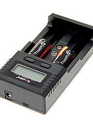 TrustFire 16340 880mAh bateria com proteção de sobrecarga (2pcs) + H2 Soshine carregador de bateria e carregador de carro