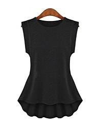 Women's Solid White/Black/Yellow Blouse , Round Neck Sleeveless Lace