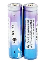 TrustFire 2000mAh 18650 (2 peças) com proteção de sobrecarga