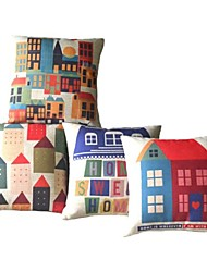 Set of 4  Sweet Home Decorative Pillow Cover