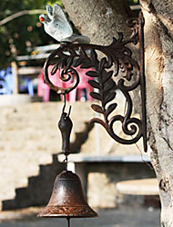 European Retro Rustic's Painted Dove Of Wrought Iron Hand-type Door Bell