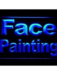 M087 pintura de la cara la luz de neón