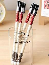 Journey of Sweet  Dot Pattern Black Ink Gel Pen(Random Color)
