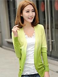 Donna dolce color caramella Crochet Knit maniche lunghe cardigan Tops