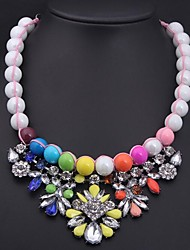 Women's Luxury Colored Gemstone Bead Necklace