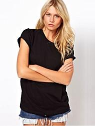Bad Meninas do anjo Voltar Laser filigrana em torno do pescoço t-shirt de manga curta preta 8039