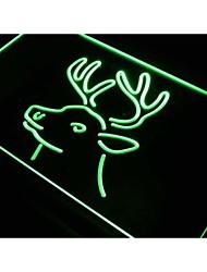 Deer Head Hunting Home Decor Neon Light Sign