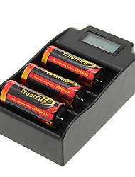 TrustFire 26650 5000mAh da bateria com proteção de sobrecarga (3pcs) + TrustFire TR-008 Carregador de Bateria