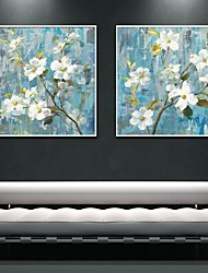 Oil Painting Art Painting Flowers Framed Canvas Print Set of  2