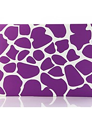 Purple Irregular Patterns Patterns Folio Plastic Protective Hard Shell Case for Macbook Pro 13""
