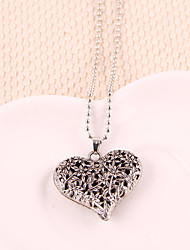Women's Pendant Necklaces Alloy Heart Gold Silver Jewelry Party