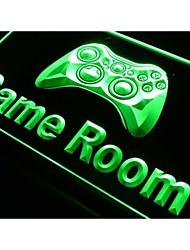 sala de jogos de console sinal de luz neon