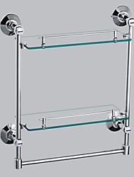 Contemporary Double-layer Glass Storage Shelf