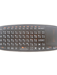 Rii i10 Russische Smart Wireless 2.4GHz Air Mouse IR-afstandsbediening Touchpad Handheld Keyboard Combo (Zwart)