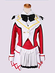 Inspired by Love Live Maki Nishikino Anime Cosplay Costumes Cosplay Suits Patchwork Red Long Sleeve Coat / Vest / Shirt / Skirt / Socks