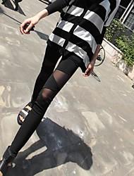 Women's Sexy Mesh Cotton Joint Tight Leggings