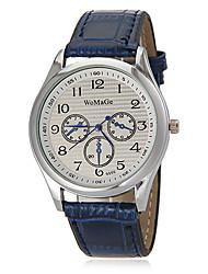 Unisex ronda Dial Pu banda de cuarzo reloj de pulsera analógico (colores surtidos)