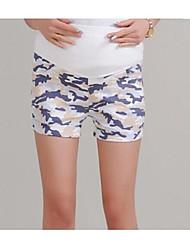 Maternity Beach/Casual/Print Shorts Pants , Cotton Micro-elastic
