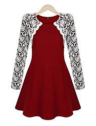 Vestimenta de Dorso y Blusas ( Algodón/Rayón )- Casual Manga Larga para Mujer
