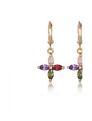 Earring Clip Earrings Jewelry Women Cubic Zirconia 2pcs Silver