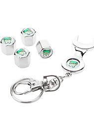 Frog Motivo della rotella di automobile Airtight gomma del pneumatico della polvere Gambi valvola dell'aria Caps con la chiave Keychain