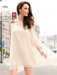 The One & Only Women's Rivet Loose Fit Chiffon Sleeveless Dress XJB13A1359