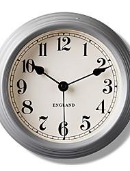 "8.8"" Thick Silver Metal Frame Peach Pointer Wall Clock"
