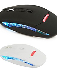 Super Mini 2.4G Wireless Optical Mouse 1600 dpi luminoso puede ser activado o desactivado