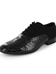 Men's Leatherette Upper Modern Dance Shoes Oxfords With Lace-ups