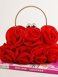 Vizon Women's New Fasian Formal Floral Satin Clutche Bag/Evening Bag