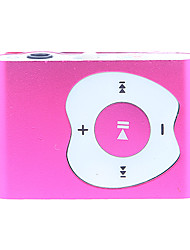 A Apple Design Botão Clipe MP3 Player com leitor de cartão TF (vermelho)
