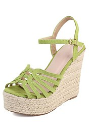 Suede Women's Platform Gladiator Sandals with Buckle Shoes(More Colors)