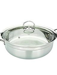"""BAYCO ® en acier inoxydable Soupe Pot avec couvercle en verre, W11.81 """"xL14.17"""" xH4.33 """""""