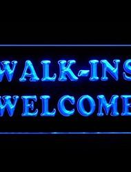 Walk-Ins Bem-vindo Publicidade LED Sign