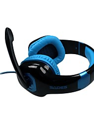 SADES A50 USB Gaming Headphone with Mic and Remote Control for PC 7.1 Sound Effect Over-Ear