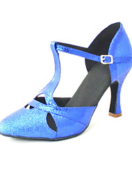 Customizable Women's Dance Shoes Modern Leatherette Customized Heel Black/Blue/Red/Silver/Gold