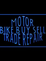 Motor Bike Buy Sell Advertising LED Light Sign