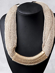Slim Cut Out Exaggerated Thick Necklace