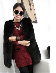 Women's Mid-Long Faux Fur Vest Plus Size Winter Fur Coat More Colors