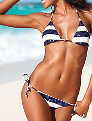 nina paillettes frange marine vent pas de bikini en acier